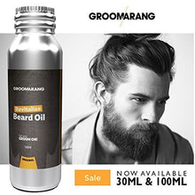 Groomarang Revitalise Beard Oil - Moisturiser & Conditioner For Soft Bearded Hair - 100% Natural, Organic & Vegan 30ml by Groomarang
