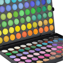 BF New Professional 120 Color Eyeshadow Palette with 12pcs Brush African Leopard Set