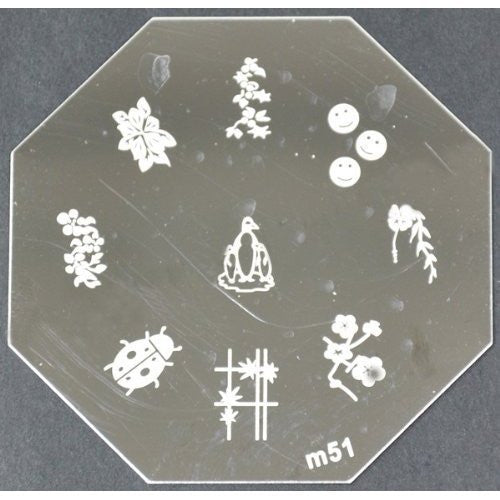 Nail Art Stamping Plate - M51 CODE: M51-Plate
