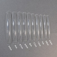 100 Long Acrylic UV Gel French False Nail Art Care Salon Tips CLEAR (Half Tips) CODE: #L02Nails