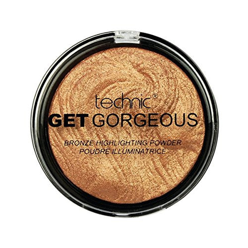 Technic Get Gorgeous 24 ct Gold Highlighting Powder, 12 g