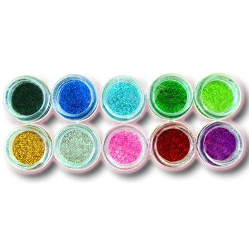 10 x Nail Art Glitter Dust Powder For Acrylic Nail Art Tips Design Decoration #10