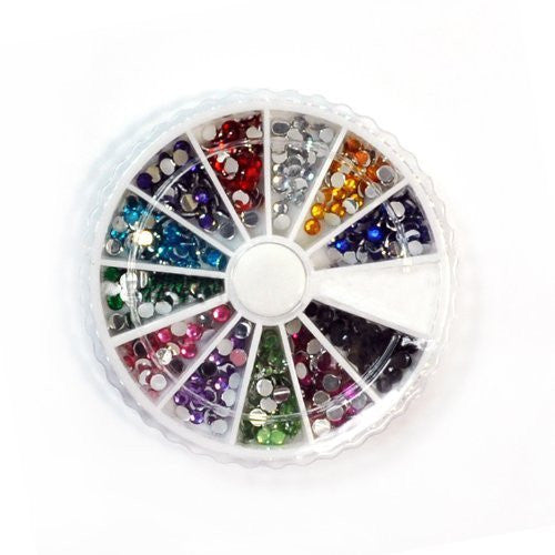 600 x Clear Round Shape Nail Art Decoration Rhinestone 3mm CODE: #8C