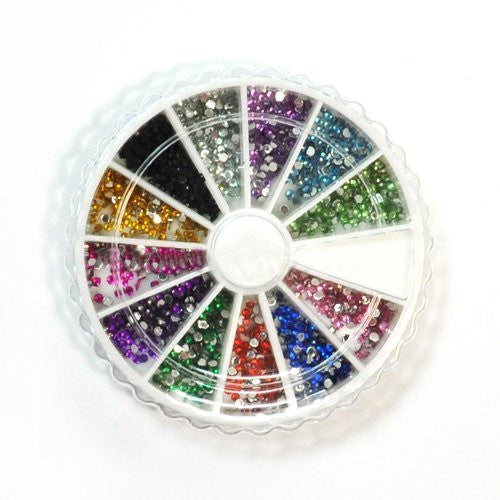 1200 x Clear Round Shape Nail Art Decoration Rhinestone 1.5mm