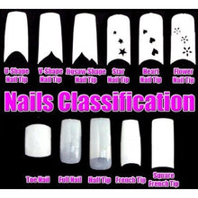 BF New Glittery French Nail Tips For Acrylic False Nails Design Makeup x 70pcs - ULTRA-SHINE RED