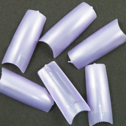 500 pcs New Professional French false nails for acrylic nail art tips design decoration Pearl Purple