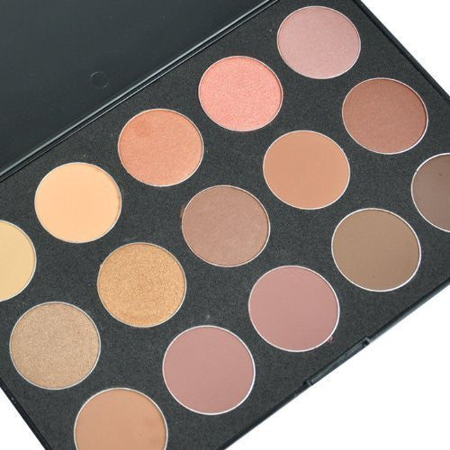 Style Fifteen - 15 NEUTRAL / NUDE COLORS EYESHADOW CODE: #829A
