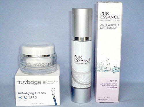 1 x Truvisage Anti-Aging Cream Diminish Sun + 1 x PurEssance Anti-Wrinkle Serum