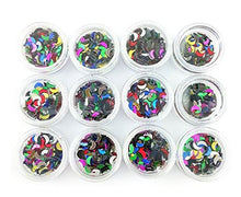 1200x 2D Nail Art Tips Rhinestone Crescent Slices DIY Decoration Manicure CODE: #1003E