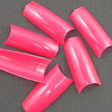 500 pcs New Professional French false nails for acrylic nail art tips design decoration Sharp Pink