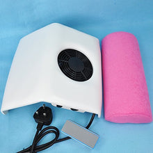 Nail Art Dust Powder Suction Collector White Manicure Pedicure File & 1 x Handrest Cushion Pillow & 2pcs Dust Collecting Bag 72W_H