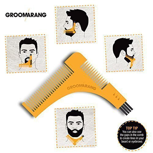 GROOMARANG Beard comb & Bart Template for the perfect Bartfom, Bart Styling, Shaving the Bart line, Symmetrical Bart by BLISSANY