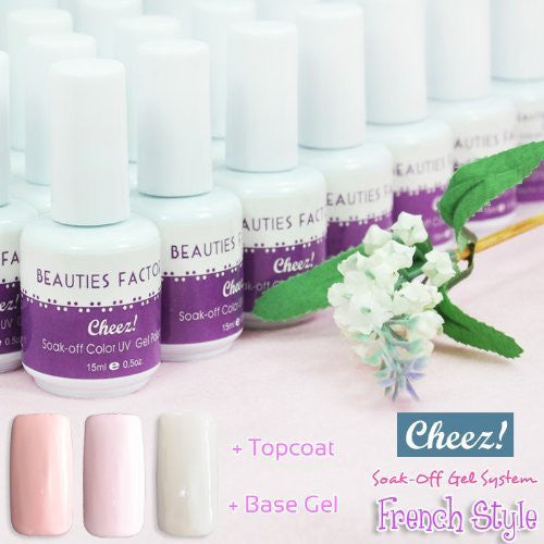 """French Style"" Series Cheez! Soak-off Color UV Gel Polish..."