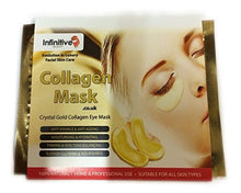 100 x Infinitive Beauty Pack New Crystal 24K Gold Powder Gel Collagen Eye Mask Masks Sheet Patch, Anti Ageing Aging, Remove Bags, Dark Circles & Puffiness, Skincare, Anti Wrinkle, Moisturising, Moisture, Hydrating, Uplifting, Whitening, Remove Blemishes
