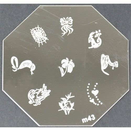 Nail Art Stamping Plate - M43 CODE: M43-Plate