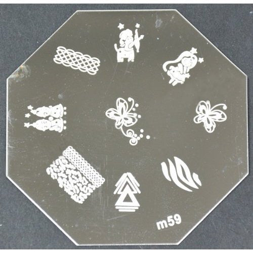 Nail Art Stamping Plate - M59 CODE: M59-Plate