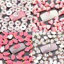 """Heart Cake"" Nail Art Decoration x 100pcs CODE: #863H"