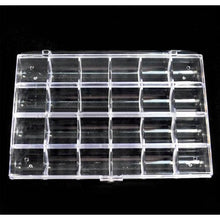 BF 1pc Large Empty Storage Box Case / Compartments For Acrylic Nail Art / Gems / Rhinestones Diamante (24 Compartments)