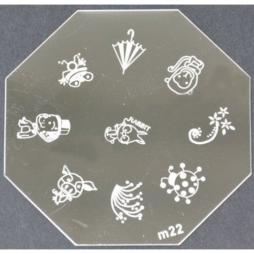 Nail Art Stamping Plate - M22 CODE: M22-Plate