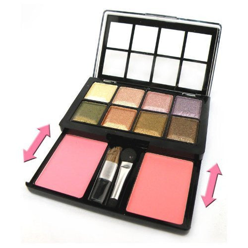 8 Colors New Professional Shimmer Eyeshadow Palette Makeup Slide Design With 2 Blushes