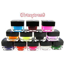 New Authentic Transparent 12 Colors UV Gel Acrylic Nail Art Tips Design UV Gel Builder