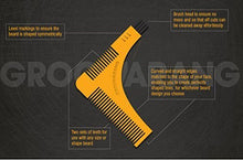 Groomarang Beard Styling and Shaping Template Comb Tool