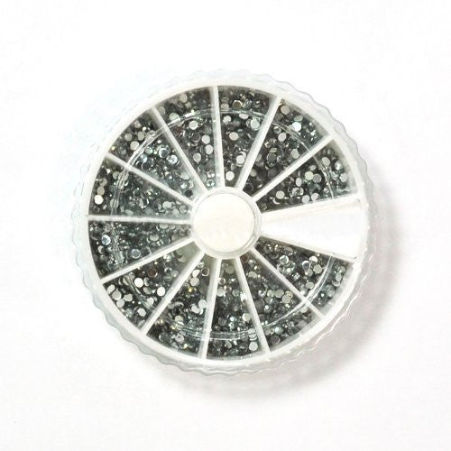 1200 x Clear Round-Shaped Nail Art Decoration Rhinestone 2mm CODE: #8D
