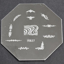 Nail Art Stamping Plate - HB27 CODE: HB27-Plate