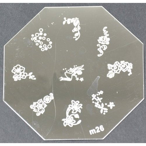 Nail Art Stamping Plate - M26 CODE: M26-Plate