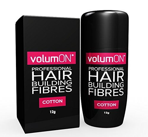 Volumon Professional Hair Building Fibres- Hair Loss Concealer- KERATIN- 12g- Get Upto 30 Uses- CHOOSE FROM 8 COLOUR SHADES (Black)