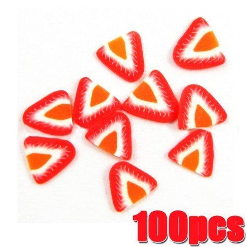 Fruit Slices x 100pcs - STRAWBERRY CODE: #449