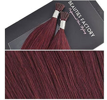"20"" I tip Fusion 100% Human Hair Extension Stick Tip Cheryl Cole Red CODE: Hair705"