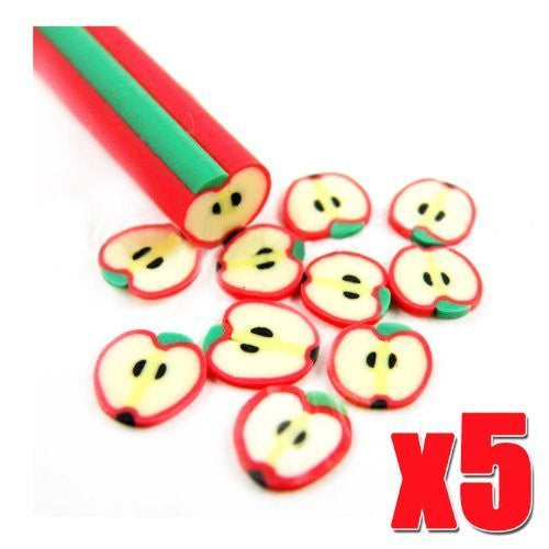 5pcs APPLE Sticks for DIY Fruit Slice Decoration CODE: #448A