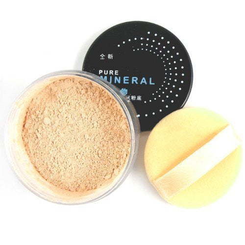 New Pro Makeup Mineral Foundation Skin Glow Perfect Sheer Finish Bare Face Affection Glow Loose Powder #04 Sunny Beige CODE: 397D