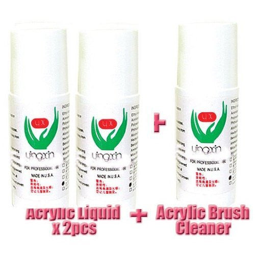 2x Acrylic Liquid And 1x Acrylic Brush Cleaner Each Bottle 60 ml CODE: #30