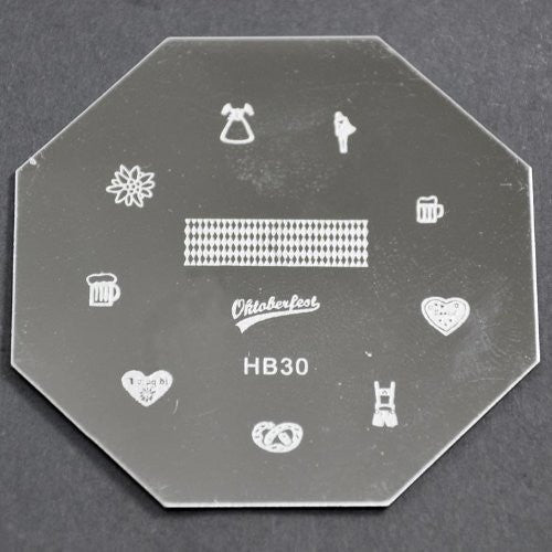 Nail Art Stamping Plate - HB30 CODE: HB30-Plate