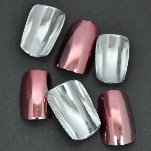 Chrome False Nail Tips (FULL) x 100pc - Nadeshiko pink