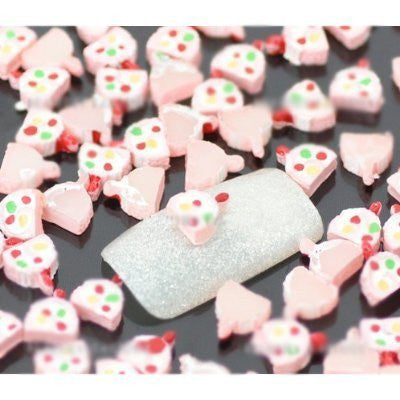 """Pinky Ice Lolly"" Nail Art Decoration x 100pcs CODE: #863..."