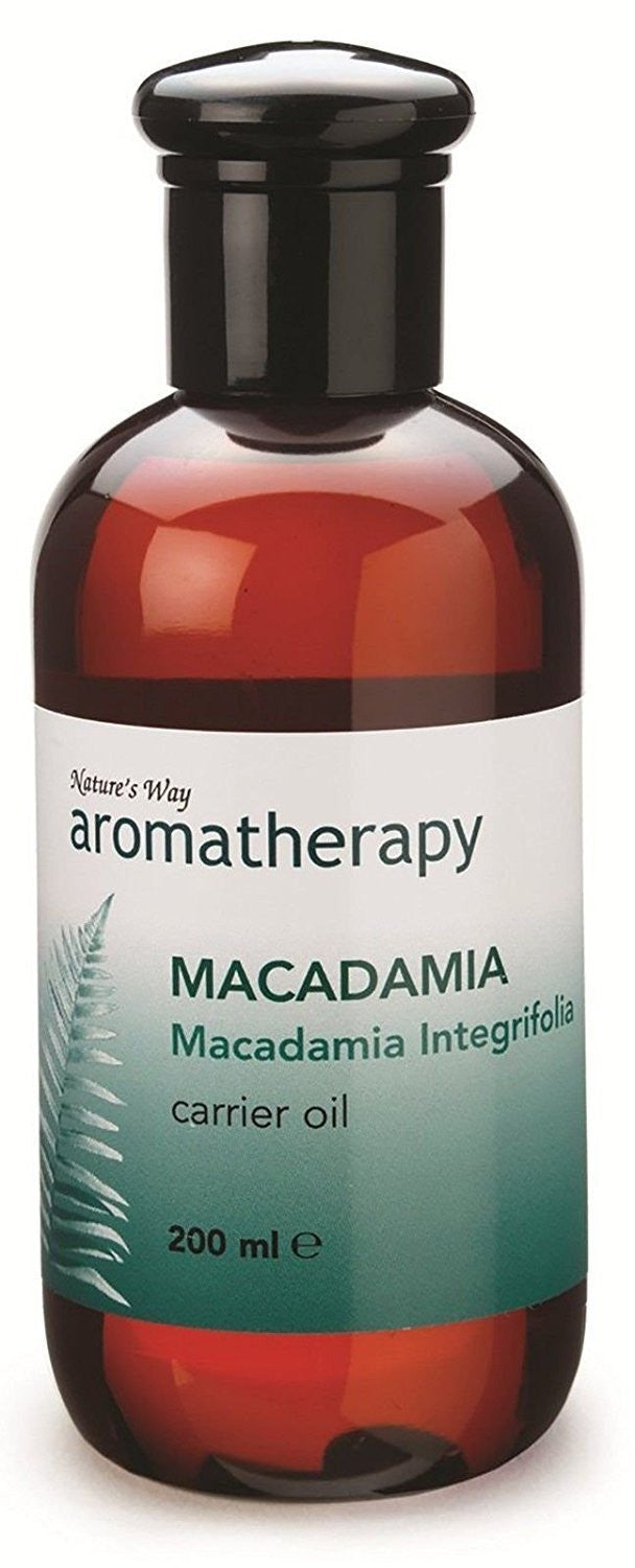 Natures Way Aromatherapy Macadamia Oil Easily Absorbed in Skin 200ml CODE: NWA0193