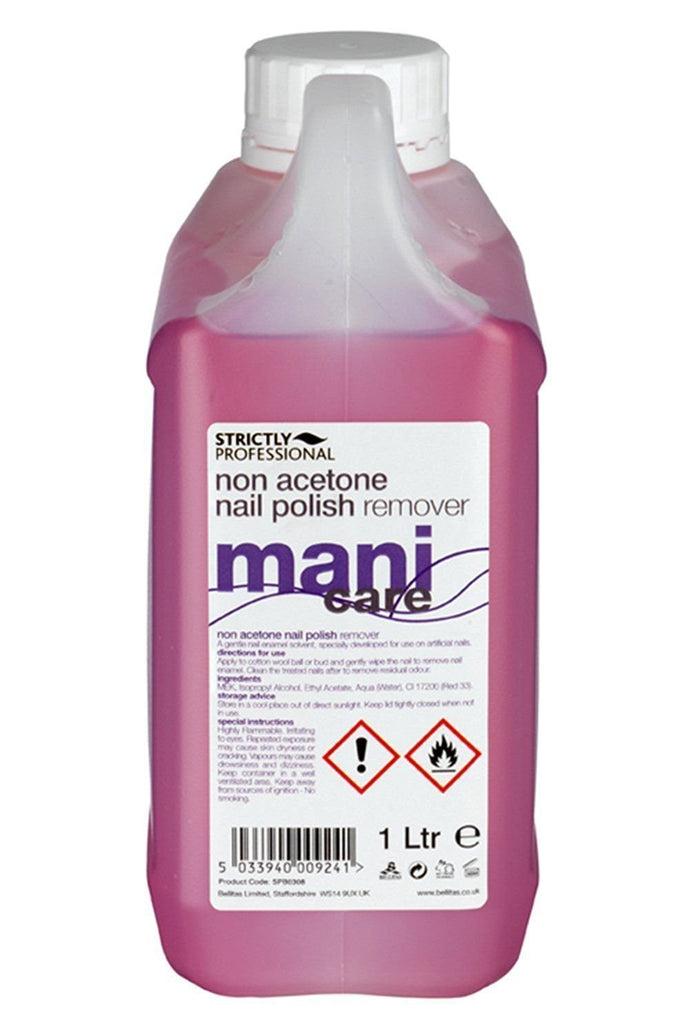 Strictly Professional Non Acetone Remover Nail Enamel Solvent 1 Litre CODE: SPB0308