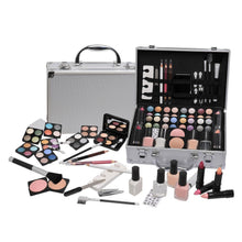 58 Piece French Manicure Vanity Case Make Up Cosmetic Travel Organizer Professional Containing Eyeshadow , Nail Polish, Nail Sticker,Toe Separator BRICO-19906-B7218