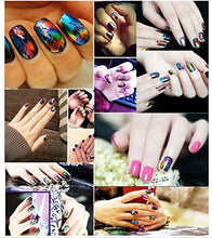 12 Nail Art Wrap Foils Transfer Glitter Sticker Polish Decal Decoration With Star Glue CODE: 1001C