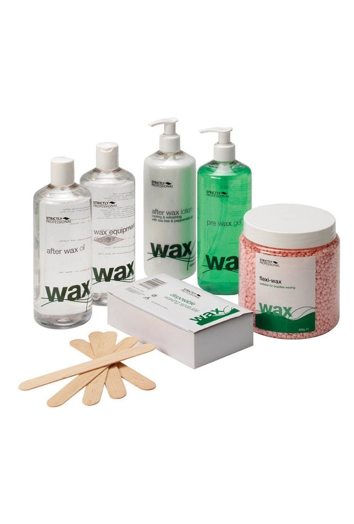 Strictly Professional After Wax Oil, Spatulas, Pre Wax Equipment Cleaner Flexi Waxing Pack CODE: SPD0085