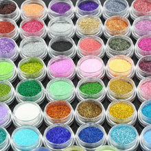 45 Color BF New Authentic Colorful Shiny Glitter Dust Powder Beads Decoration For Nail Art Dust Acrylic UV Gel Special Value Pack