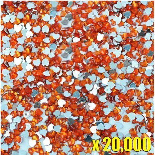 20,000pcs New Heart Shape Crystal Rhinestones Hyacinth For Acrylic Gel Nail Artificial Nail Design