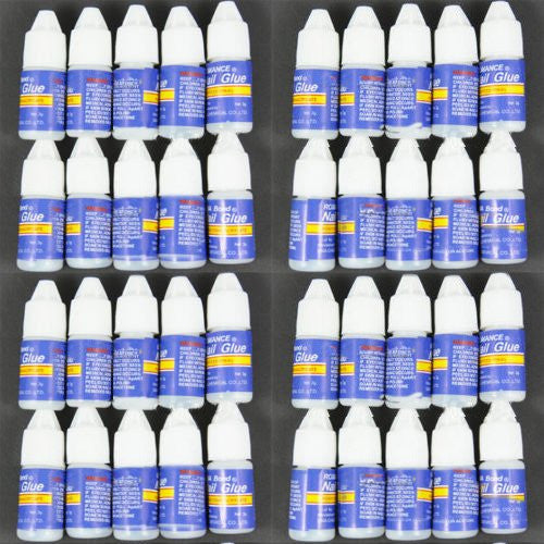 BF New Professional 40 pcs Pro Nail Art Glue Acrylic UV Gel Art Tips Manicure 3gm Each Bottle #20x4