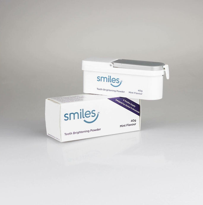 Smiles 40 g Mint Flavour Teeth Brightening Powder