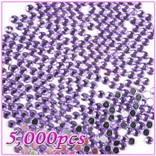5,000pcs 5mm PRO Rhinestones Crystals Round Beads For Acrylic Nails Gel Nail Art Tips Decoration- Light Purple 08 CODE: #468H