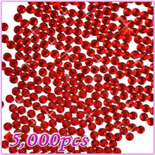 5,000pcs 5mm PRO Rhinestones Crystals Round Beads For Acrylic Nails Gel Nail Art Tips Decoration - Red 10 CODE: #468J