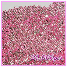 20,000pcs 2mm PRO Rhinestones Crystals Round Beads For Acrylic Nails Gel Nail Art Tips Decoration- Light Pink 07 CODE: #406G